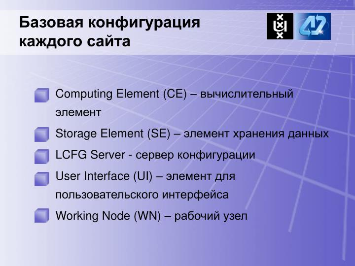 Computing Element (CE) –