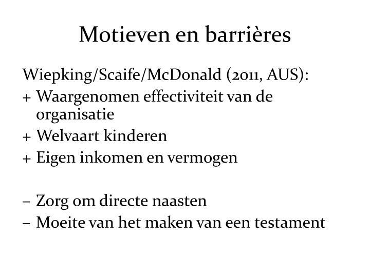 Motieven en barrières