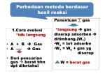 perbedaan metoda berdasar hasil reaksi