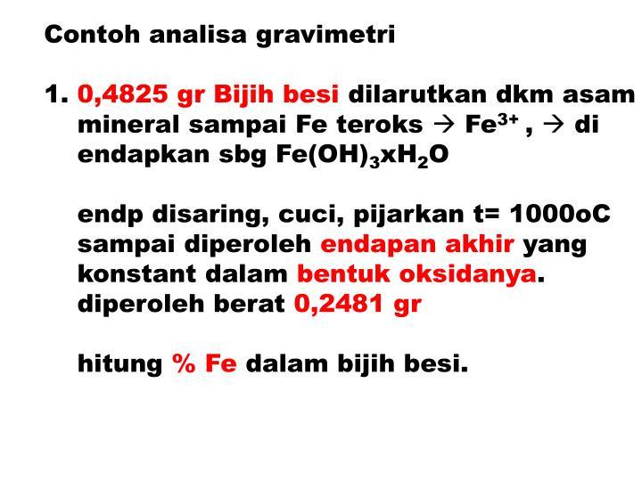 Contoh analisa gravimetri