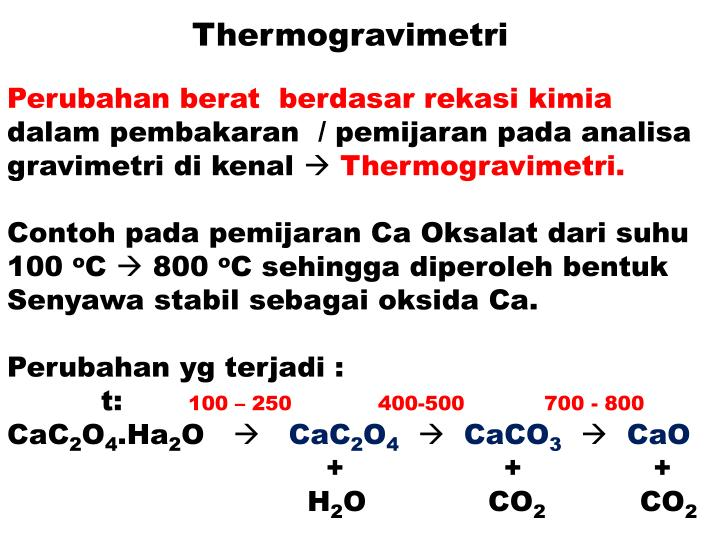 Thermogravimetri