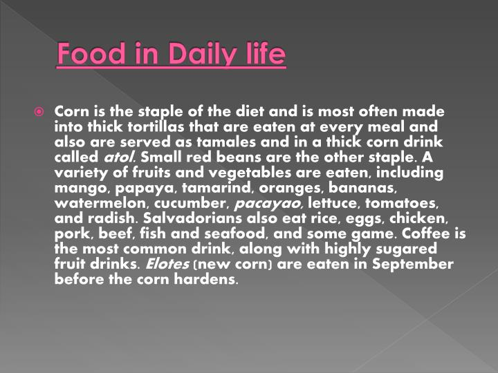 Food in Daily life