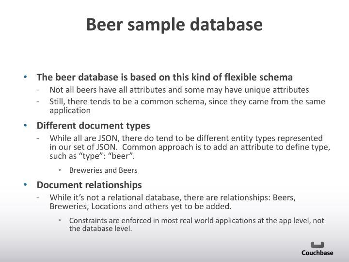 Beer sample database