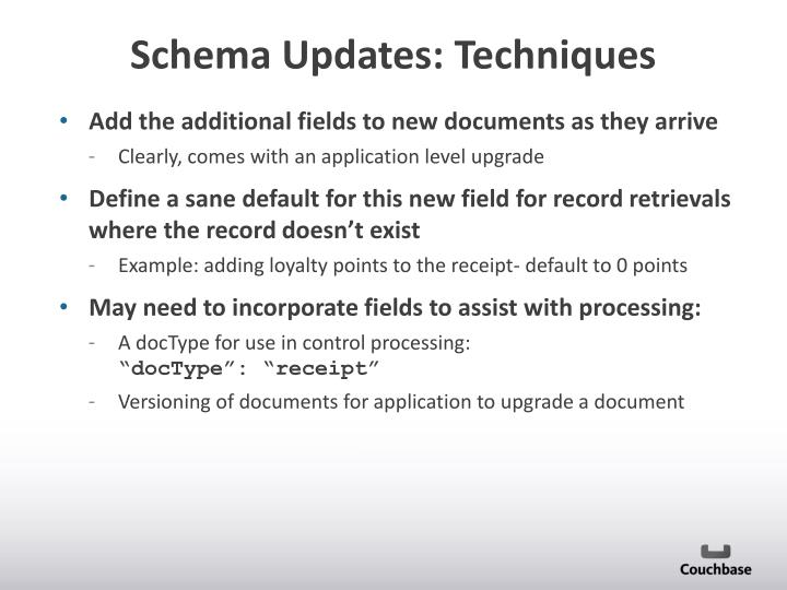 Add the additional fields to new documents as they arrive
