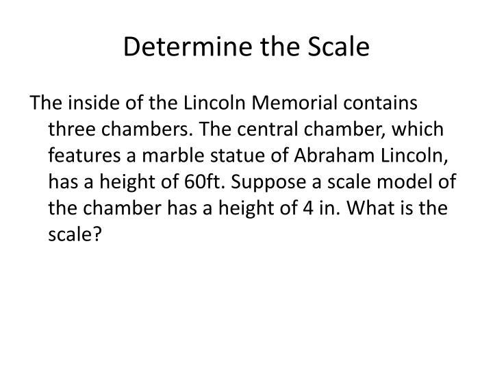 Determine the Scale