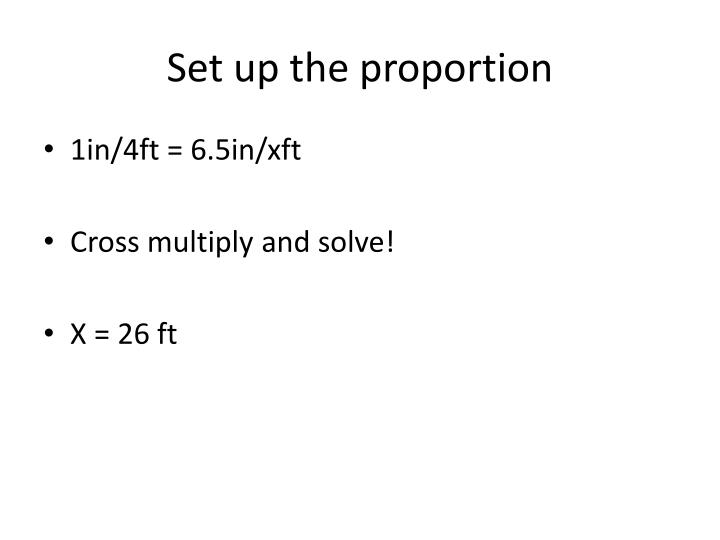 Set up the proportion