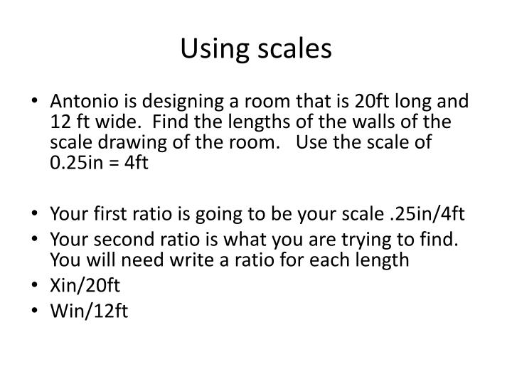 Using scales