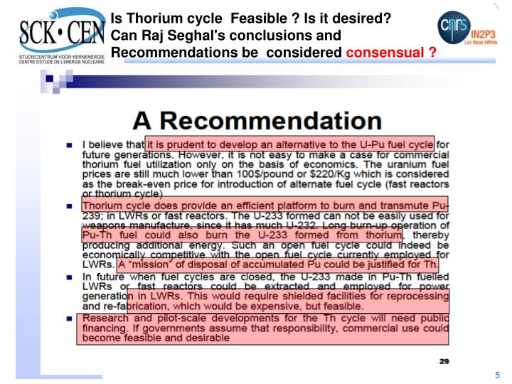 Is Thorium cycle
