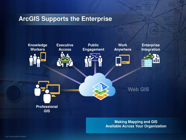 Arcgis supports the enterprise