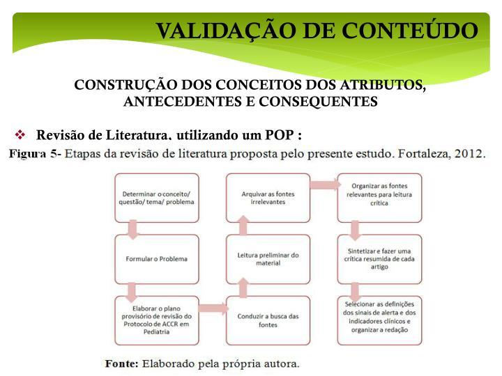 VALIDAÇÃO DE CONTEÚDO