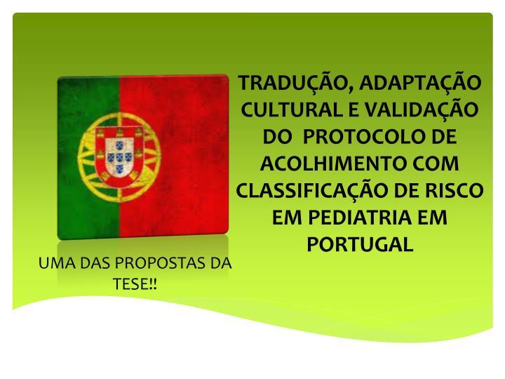 UMA DAS PROPOSTAS DA TESE!!
