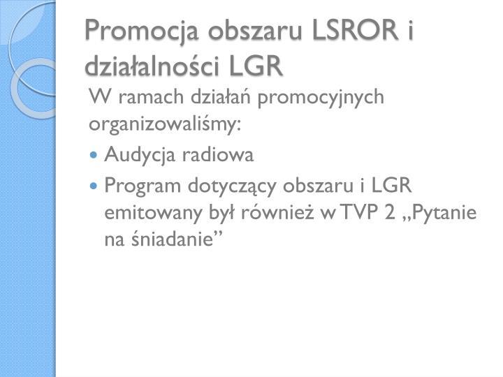 Promocja obszaru LSROR i