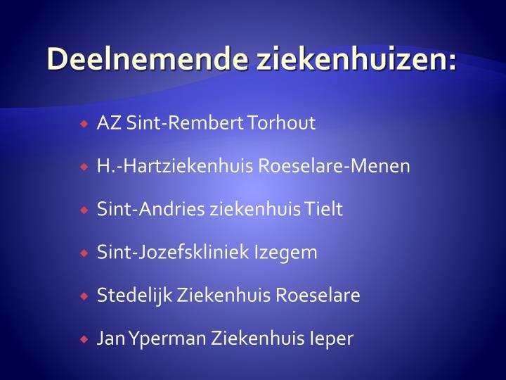 Deelnemende ziekenhuizen: