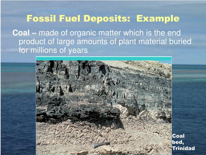 Fossil Fuel Deposits:  Example