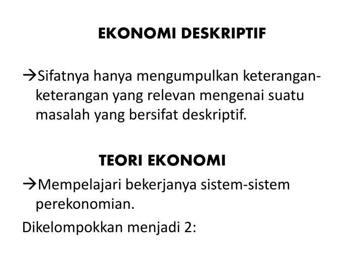 EKONOMI DESKRIPTIF