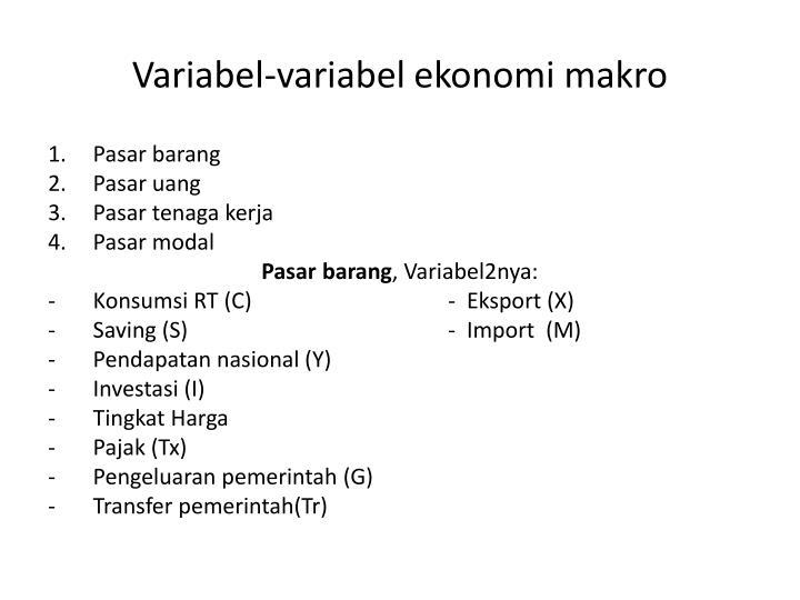 Variabel-variabel