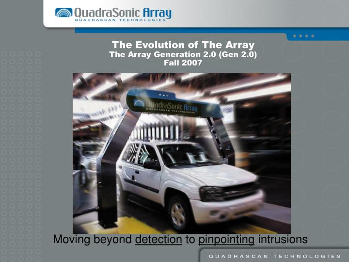 The Evolution of The Array