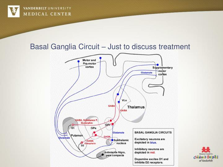 Basal Ganglia Circuit – Just to discuss treatment