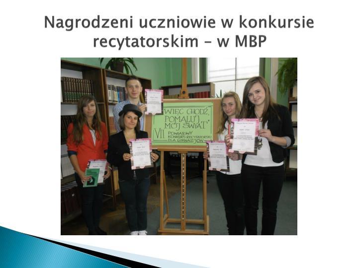 Nagrodzeni uczniowie w konkursie recytatorskim – w MBP