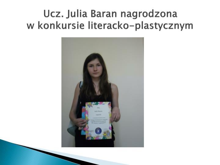 Ucz. Julia Baran nagrodzona