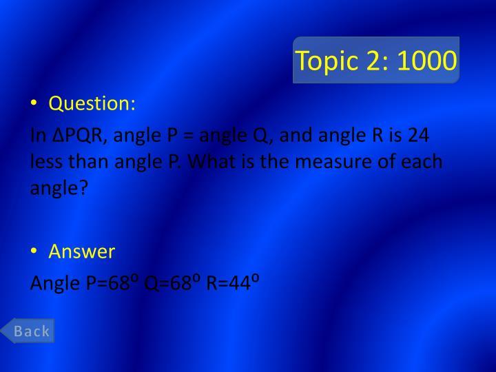 Topic 2: 1000