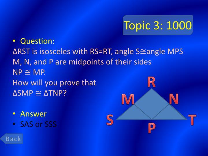 Topic 3: 1000