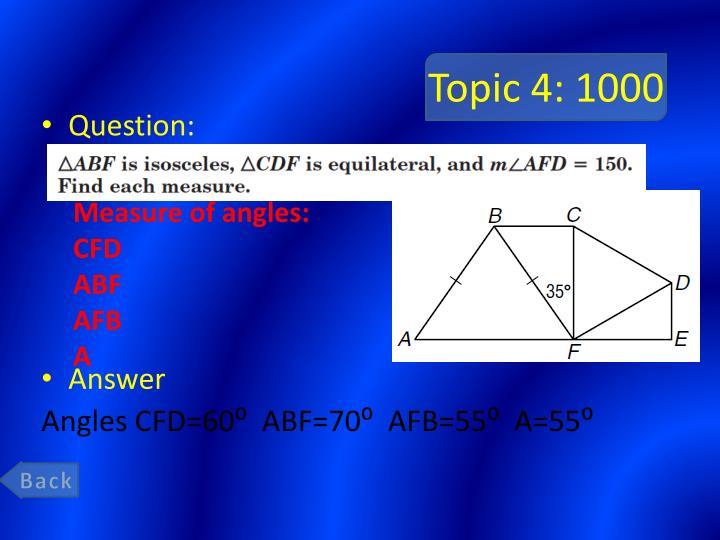 Topic 4: 1000