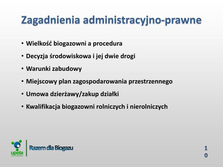 Zagadnienia administracyjno-prawne