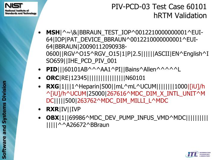 PIV-PCD-03 Test Case 60101