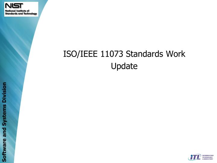 ISO/IEEE 11073 Standards Work