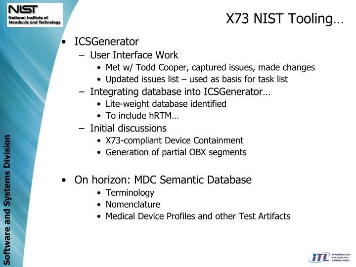 X73 NIST Tooling…