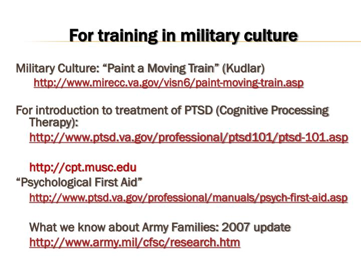 """Military Culture: """"Paint a Moving Train"""" ("""