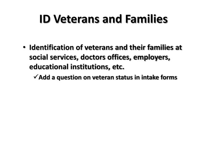 ID Veterans and Families