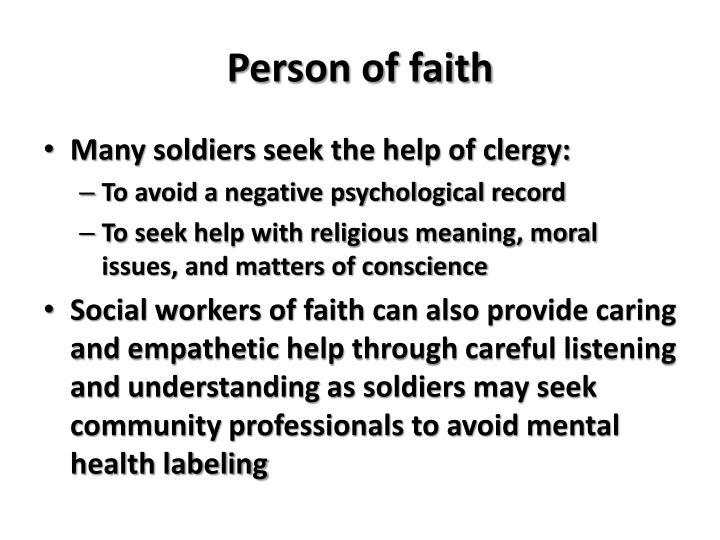 Person of faith