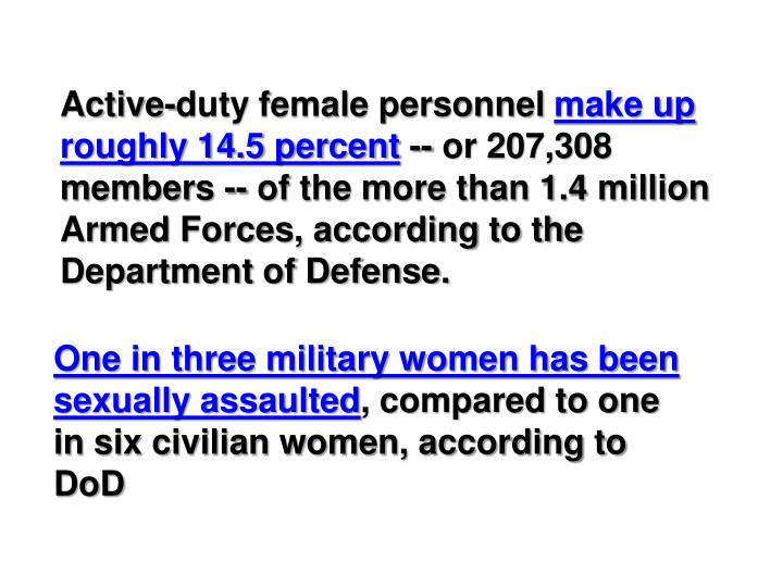 Active-duty female personnel