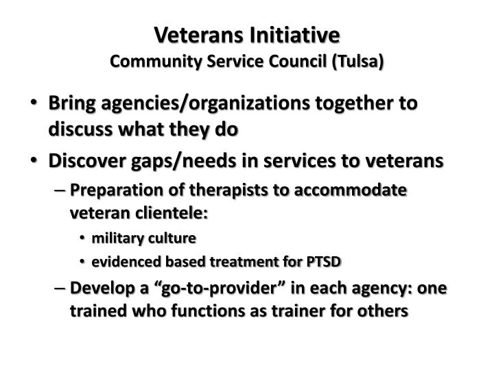 Veterans Initiative