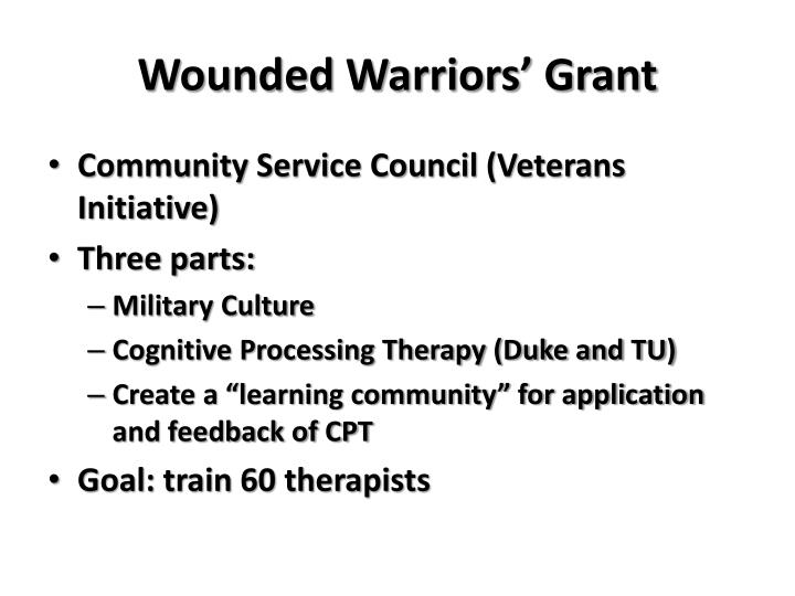 Wounded Warriors' Grant