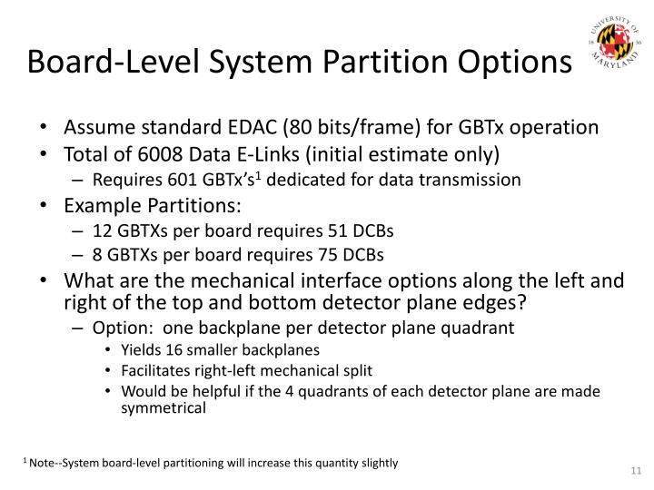 Board-Level System Partition Options