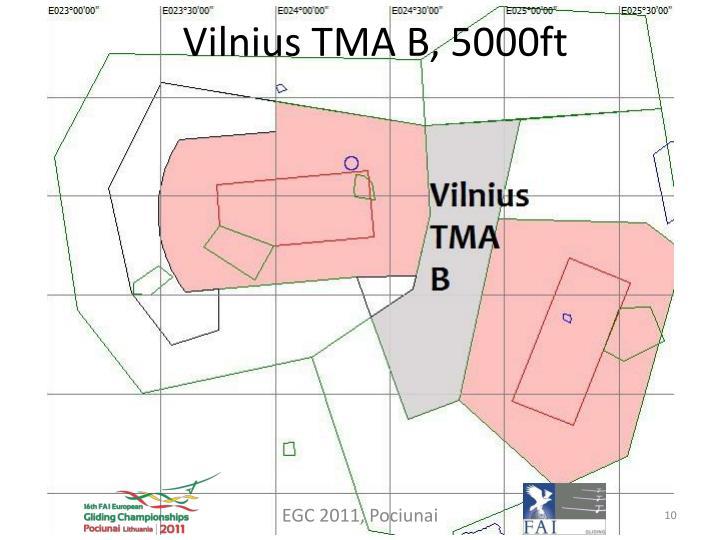 Vilnius TMA B, 5000ft