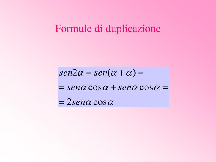 Formule di duplicazione