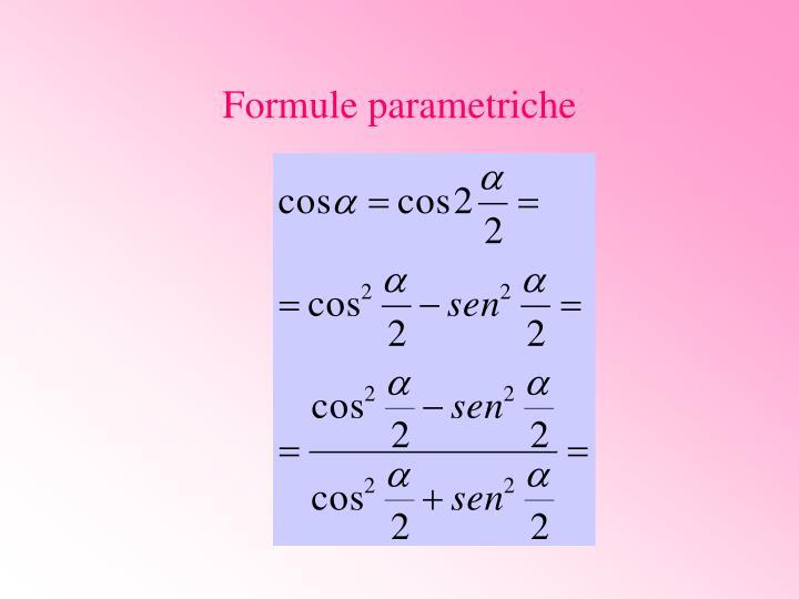 Formule parametriche
