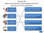 answers 1 draw a line from the correct element of the fitt formula to its correct definition