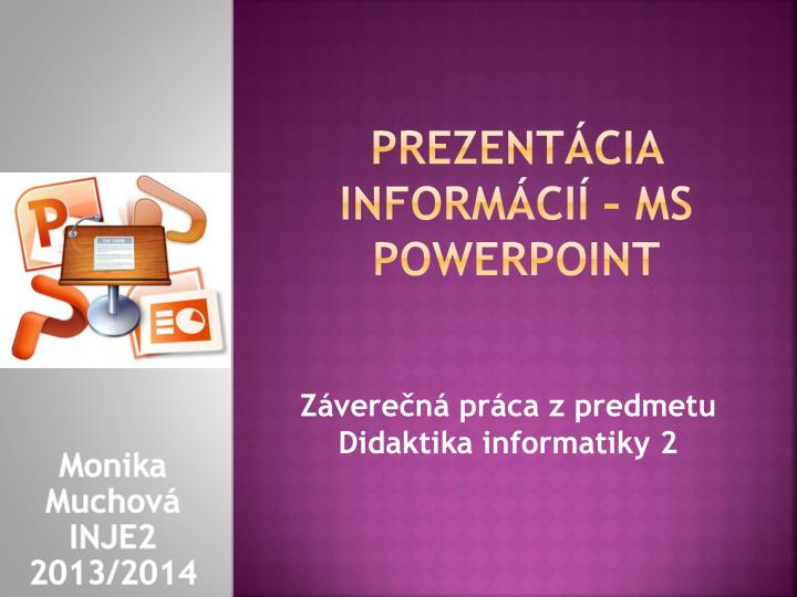 Prezent cia inform ci ms powerpoint