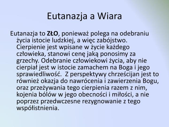 Eutanazja a Wiara