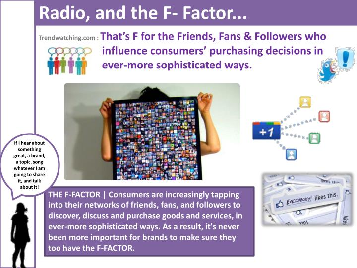 Radio, and the F- Factor...