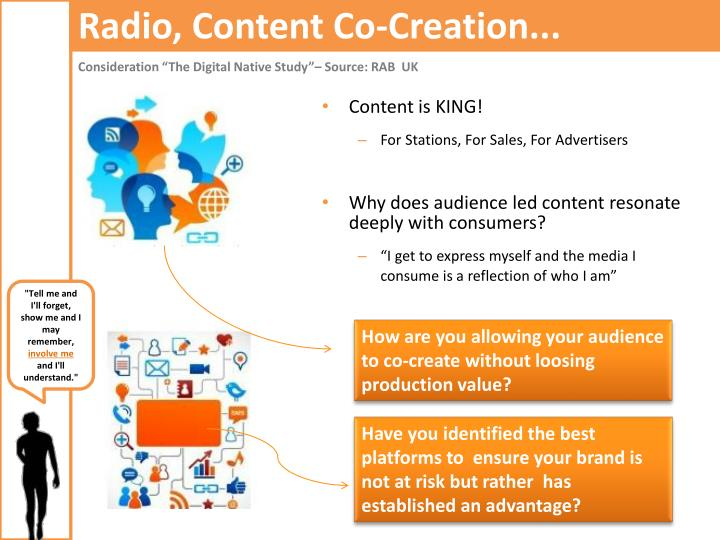 Radio, Content Co-Creation...