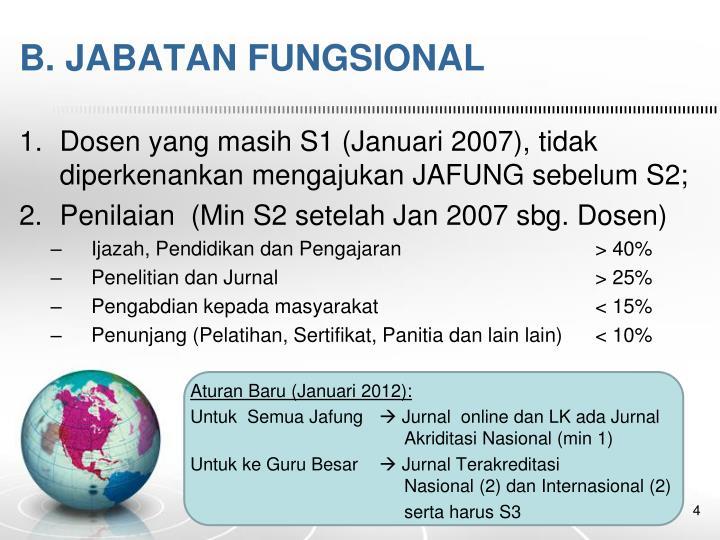 B. JABATAN FUNGSIONAL