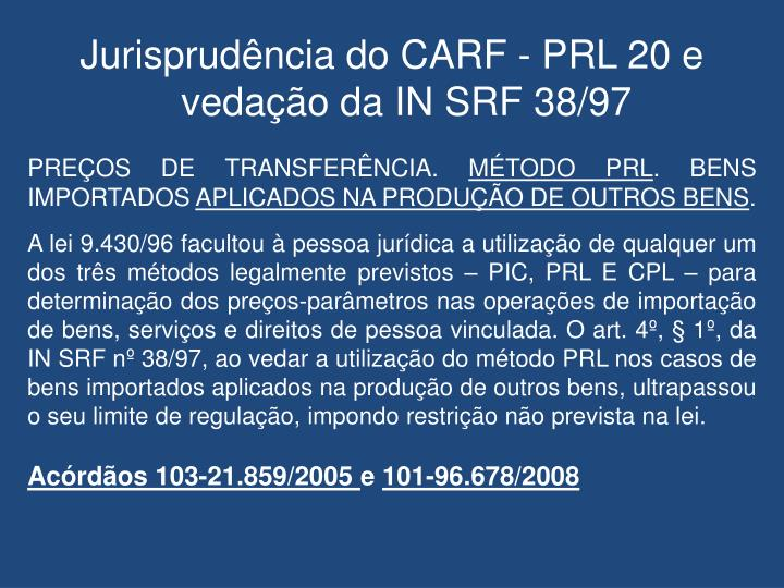Jurisprudência do CARF -