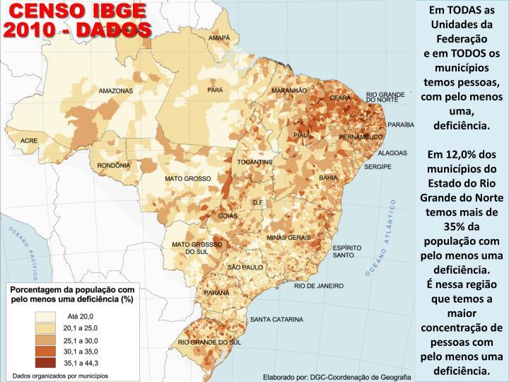 CENSO IBGE 2010 - DADOS