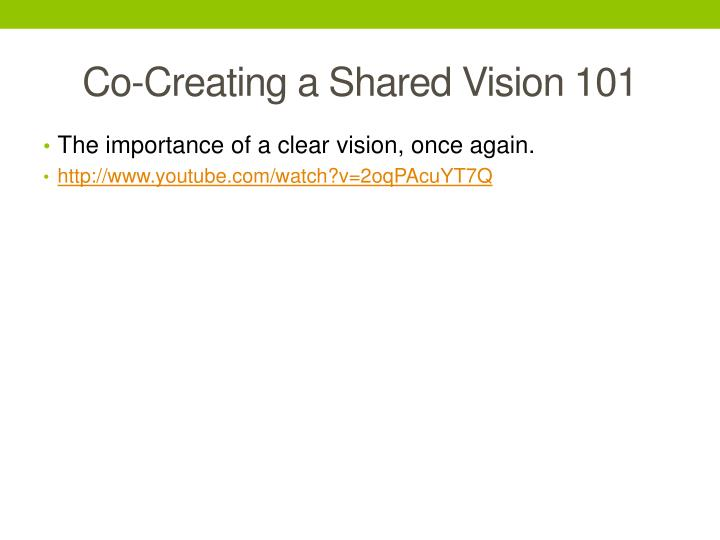 Co-Creating a Shared Vision